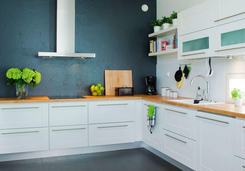 Kuchnia w kolorze turkusu i limonki  Projekt kuchni i